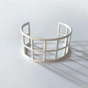 BaubleBar Double Ladder Cuff Bracelet in White